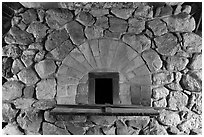 Hearth in forge, Saugus Iron Works National Historic Site. Massachussets, USA ( black and white)