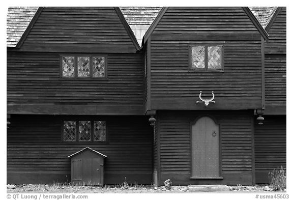 Iron Works House, Saugus Iron Works National Historic Site. Massachussets, USA (black and white)