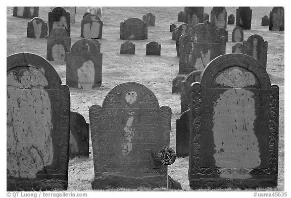 Headstones, Concord. Massachussets, USA