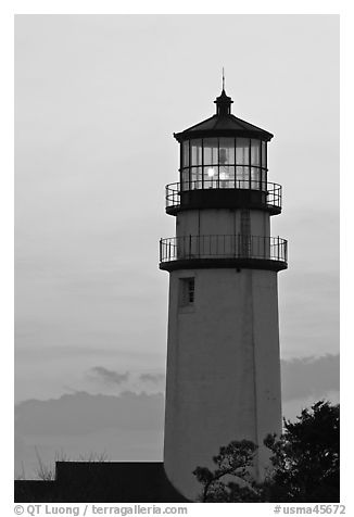 Highland Light at dawn, Cape Cod National Seashore. Cape Cod, Massachussets, USA (black and white)