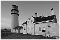 Highland Light (Cape Cod Light), Cape Cod National Seashore. Cape Cod, Massachussets, USA ( black and white)