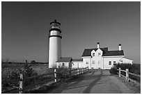 Cape Cod Light, Cape Cod National Seashore. Cape Cod, Massachussets, USA ( black and white)