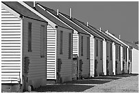 Row of cottages, Truro. Cape Cod, Massachussets, USA ( black and white)