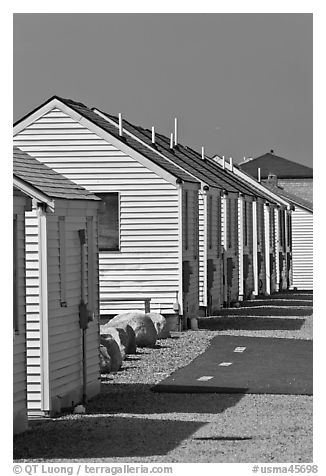 Beach Cottages, Truro. Cape Cod, Massachussets, USA (black and white)