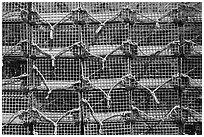 Lobster traps, Truro. Cape Cod, Massachussets, USA ( black and white)