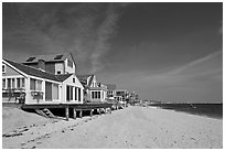 Beach, Provincetown. Cape Cod, Massachussets, USA ( black and white)