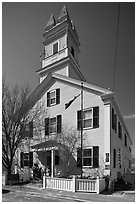 Former schoolhouse, Provincetown. Cape Cod, Massachussets, USA ( black and white)
