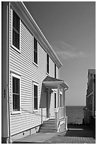 Waterfront houses, Provincetown. Cape Cod, Massachussets, USA (black and white)