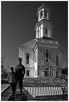 Former church reconverted into libary, Provincetown. Cape Cod, Massachussets, USA ( black and white)