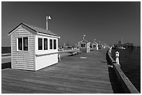 Mac Millan Pier, Provincetown. Cape Cod, Massachussets, USA ( black and white)