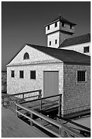 Old Harbor life-saving station, Cape Cod National Seashore. Cape Cod, Massachussets, USA ( black and white)
