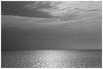 Bay and Sky, Cape Cod National Seashore. Cape Cod, Massachussets, USA (black and white)