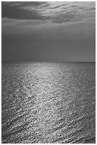 Shimmering water, Cape Cod Bay, Cape Cod National Seashore. Cape Cod, Massachussets, USA ( black and white)