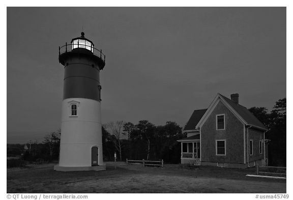 Nauset Light by night, Cape Cod National Seashore. Cape Cod, Massachussets, USA