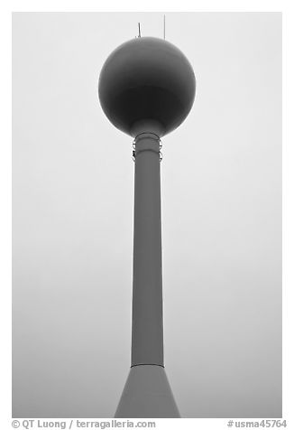 Water Tower. Cape Cod, Massachussets, USA (black and white)