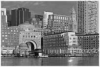 Rowes Wharf. Boston, Massachussets, USA (black and white)