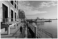 Rowes Wharf, early morning. Boston, Massachussets, USA ( black and white)