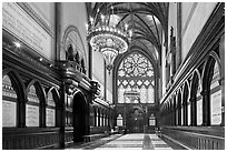 Memorial Transept, Memorial Hall, Harvard University, Cambridge. Boston, Massachussets, USA ( black and white)