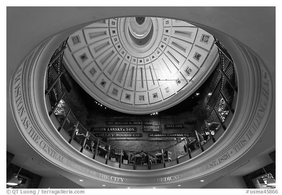 Below the dome, Quincy Market. Boston, Massachussets, USA