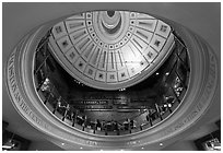 Below the dome, Quincy Market. Boston, Massachussets, USA (black and white)
