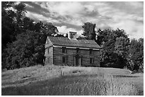 Captain William Smith house, Minute Man National Historical Park. Massachussets, USA (black and white)