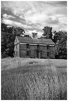 Historic house, Minute Man National Historical Park. Massachussets, USA ( black and white)