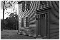 Historic house with grazing light, Minute Man National Historical Park. Massachussets, USA ( black and white)
