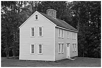 Job Brooks House, Minute Man National Historical Park. Massachussets, USA (black and white)