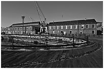 Charleston Navy Yard. Boston, Massachussets, USA (black and white)