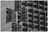 Detail of modern building. Boston, Massachussets, USA (black and white)