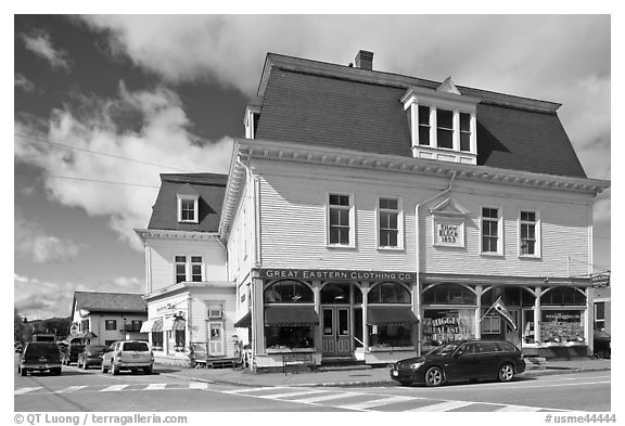 Stores, Greenville. Maine, USA (black and white)