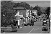 Main street, Millinocket. Maine, USA (black and white)