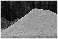 Sawdust pile, Ashland. Maine, USA ( black and white)