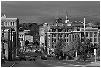 State Street and downtown. Bangor, Maine, USA ( black and white)