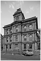 Historic custom house. Portland, Maine, USA ( black and white)