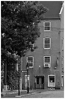 Brick building. Portland, Maine, USA ( black and white)