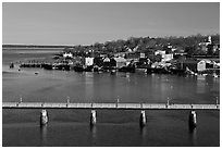 Belfast and Penobscot Bay. Maine, USA (black and white)