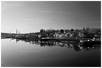 Buckport. Maine, USA (black and white)