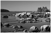 Boulders, Penobscot Bay. Stonington, Maine, USA ( black and white)