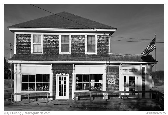 Post office. Corea, Maine, USA (black and white)