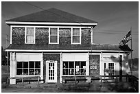 Post office. Corea, Maine, USA ( black and white)