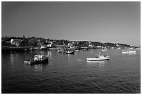 Lobster fleet, late afternoon. Stonington, Maine, USA ( black and white)