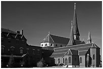 Cathedral. Portland, Maine, USA ( black and white)