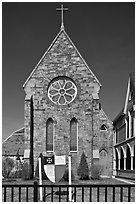 Saint Paul Parish, 1763. Portland, Maine, USA ( black and white)