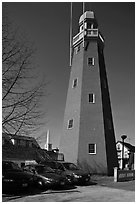 Portland observatory. Portland, Maine, USA ( black and white)