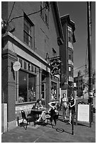 Cafe. Portland, Maine, USA ( black and white)