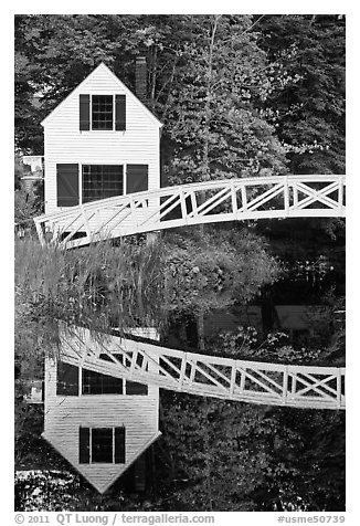 Somesville historical society house. Maine, USA (black and white)