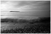 Lake Superior at Sunrise near Grand Portage. Minnesota, USA ( black and white)