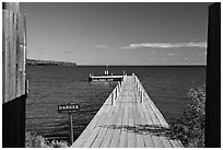 Pier on Lake Superior, Grand Portage National Monument. Minnesota, USA ( black and white)