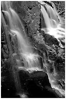 Goosebery Falls, Goosebery State Park. Minnesota, USA (black and white)